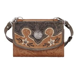 American West Wildflower Wallet Crossbody