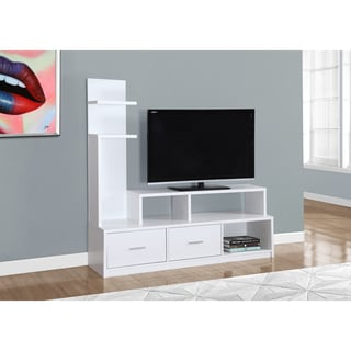 White TV Stand and Display Tower