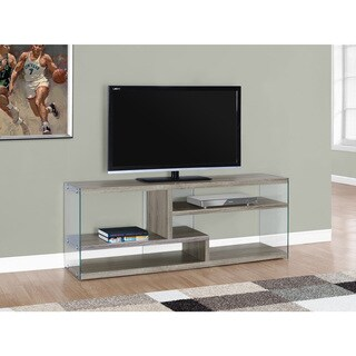 Dark Taupe Tempered Glass 60-inch TV Stand