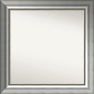 Wall Mirror Choose Your Custom Size Medium, Vegas Burnished Silver Wood