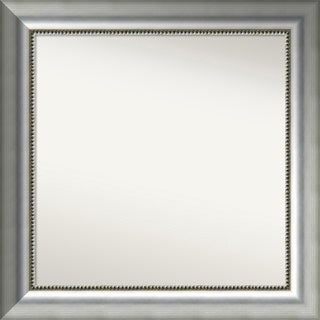 Wall Mirror Choose Your Custom Size Medium,Vegas Burnished Silver Wood