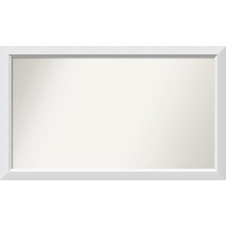 Wall Mirror Choose Your Custom Size - Large, Blanco White Wood