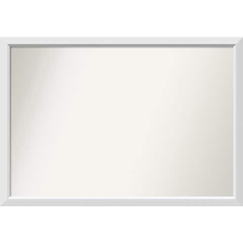 Wall Mirror Choose Your Custom Size - Extra Large, Blanco White Wood