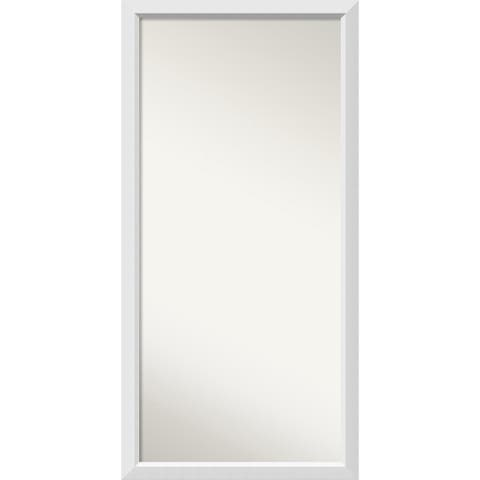 Wall Mirror Choose Your Custom Size - Oversized, Blanco White Wood