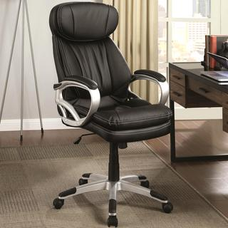 Plush Cushion Ergonomic Adjustable Swivel Office Chair