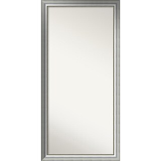 Wall Mirror Choose Your Custom Size - Oversized, Vegas Burnished Silver Wood