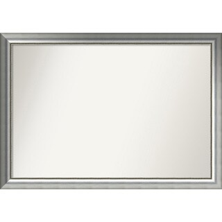 Wall Mirror Choose Your Custom Size - Extra Large, Vegas Silver Wood