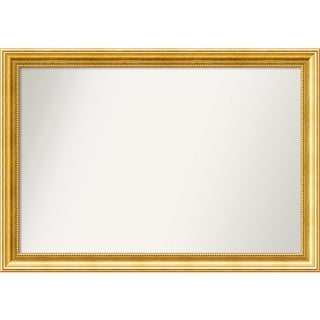 Wall Mirror Choose Your Custom Size - Medium, Townhouse Gold Wood