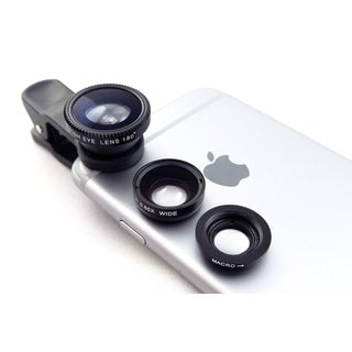 3 in 1 Universal Smartphone Clip-on Camera Lens Photo Kit