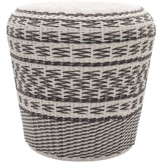 Alessandra Polyethylene/Metal Outdoor Stool (18 x 18 x 17)