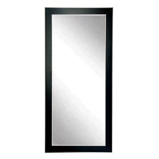 BrandtWorks Silver Accent Black Floor Mirror - Black/Silver