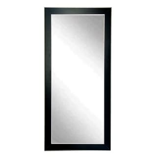 Silver Accent Black Floor Mirror