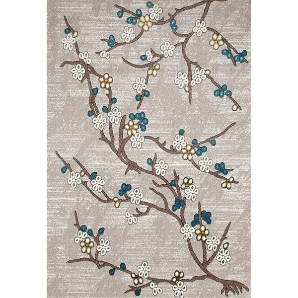 "Persian Rugs Flower Stem Floral Area Rug - 7'10"" x 10'6"""