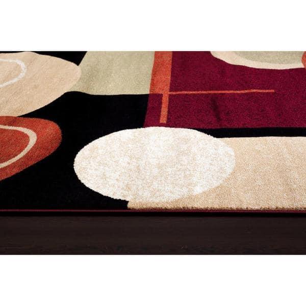 Shop Persian Rugs Tobi S Collection Black Beige White Circle