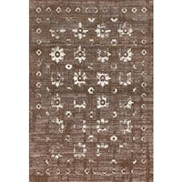 Persian Rugs Beverly Collection Gold Brown Beige Antique Styled Area Rug - 2'0 x 3'4