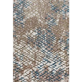 Persian Rugs Beehive Designed Multi Colored Beverly Collection Modern Area Rug (2'0 x 3'4)