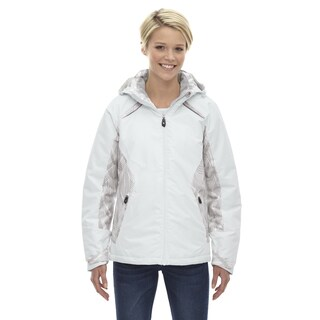 Linear Women's Winter White 822 Insulated Jacket With Print