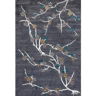 Persian Rugs Flower Stem Floral Area Rug (5'2 x 7'2)