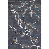 Persian Rugs Flower Stem Floral Area Rug - 5'2 x 7'2