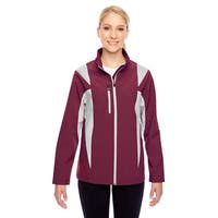 Icon Women's Colorblock Soft Shell Sport Maroon/Silver Jacket