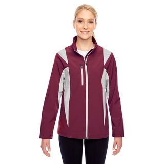 Icon Women's Colorblock Soft Shell Sport Maroon/Silver Jacket (More options available)