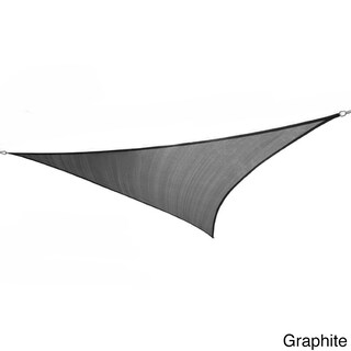 Cool Area Triangle 9 Feet, 10-inches Sun Shade Sail with Stainless Steel Hardware Kit (Option: Black)