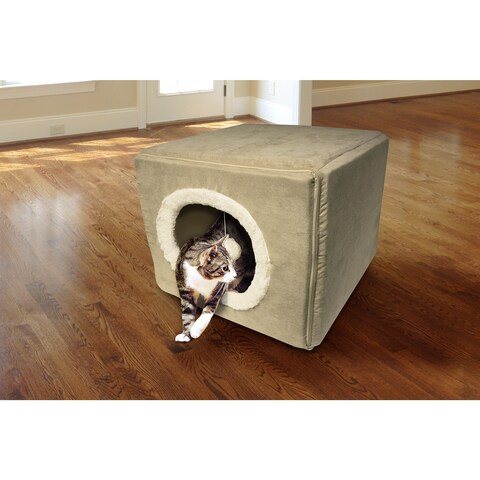 FurHaven Cozy Cube Cat Tunnel Bed