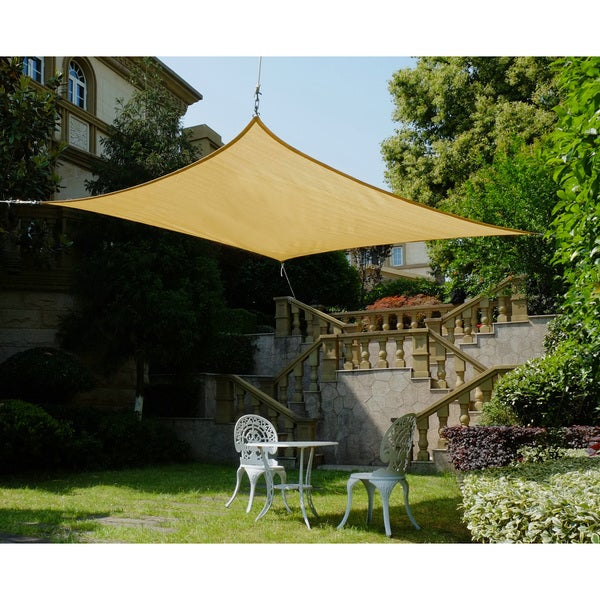 Shop cool area square oversized 16 feet 5 inches sun for Shadesails com