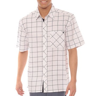 Steve Harvey Collection Mens' Short-sleeve Plaid Button Down Shirt