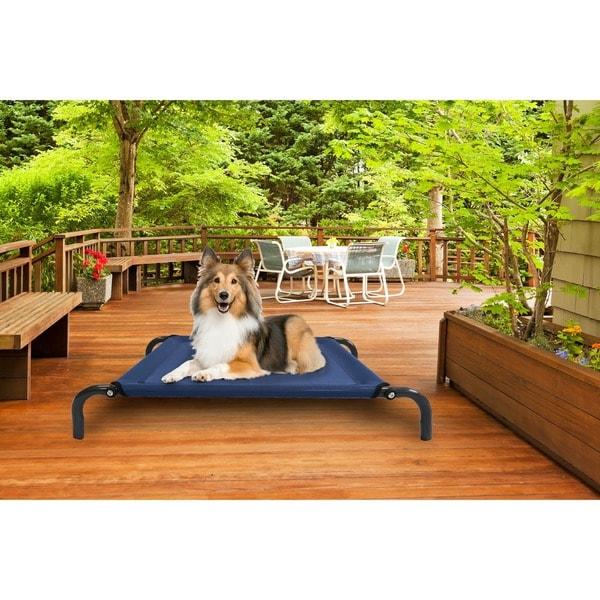 FurHaven Steel-frame Elevated Hammock Cot-style Raised Pet Bed