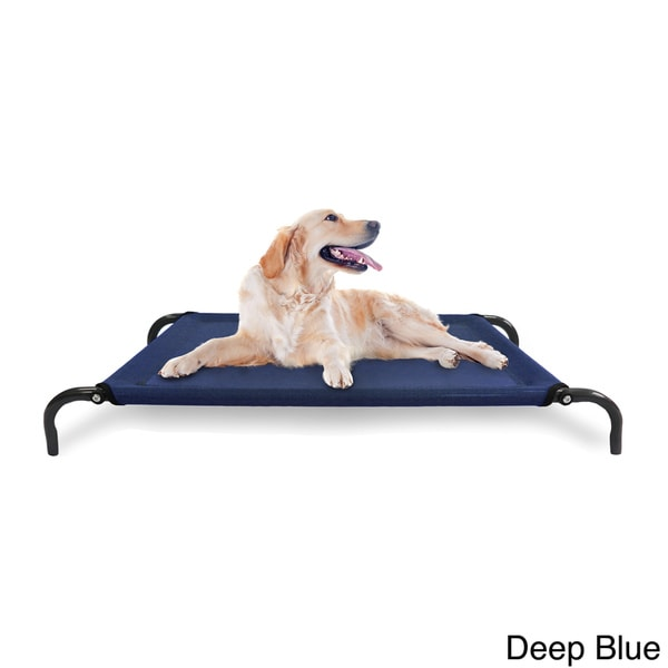 furhaven steel frame elevated hammock cotstyle raised pet bed free shipping on orders over 45