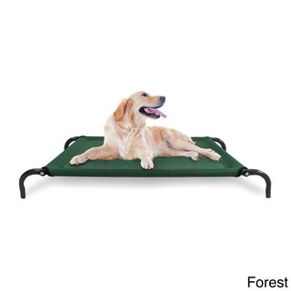 Furhaven Steel Frame Elevated Hammock Cot-style Raised Pet Bed (More options available)