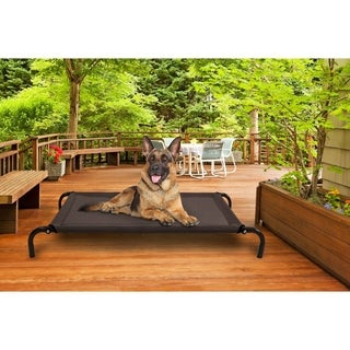 FurHaven Steel-frame Elevated Hammock Cot-style Raised Pet Bed