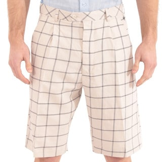 Steve Harvey Collection Men's Plaid Shorts