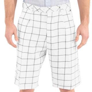 Steve Harvey Collection Men's Plaid Shorts