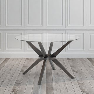 black round table. Modern Round Glass And Wood Dining Kitchen Table Black