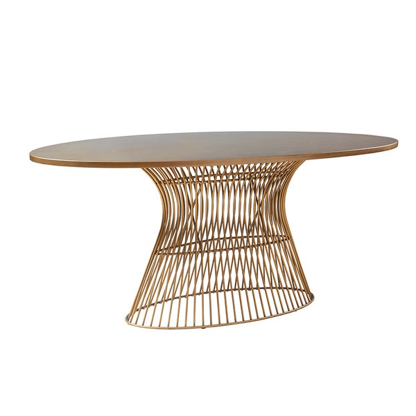 Ink Ivy Mercer Bronze Oval Dining Table 19134574