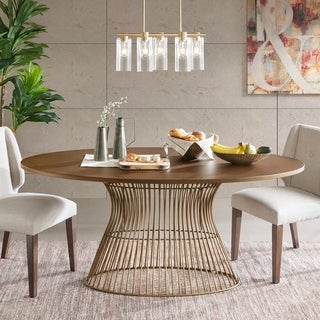 INK IVY Mercer Bronze Oval Dining Table