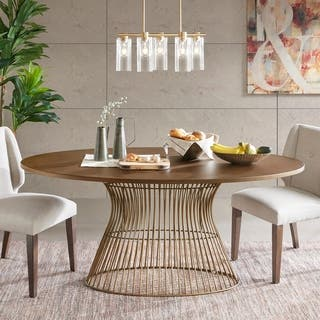 ink ivy mercer bronze oval dining table - Oval Kitchen Table