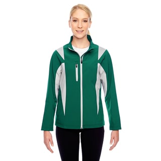 Icon Women's Colorblock Soft Shell Sport Forest/Silver Jacket