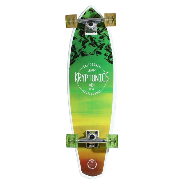 Kryptonics 32-inch Mini Longboard Skateboard