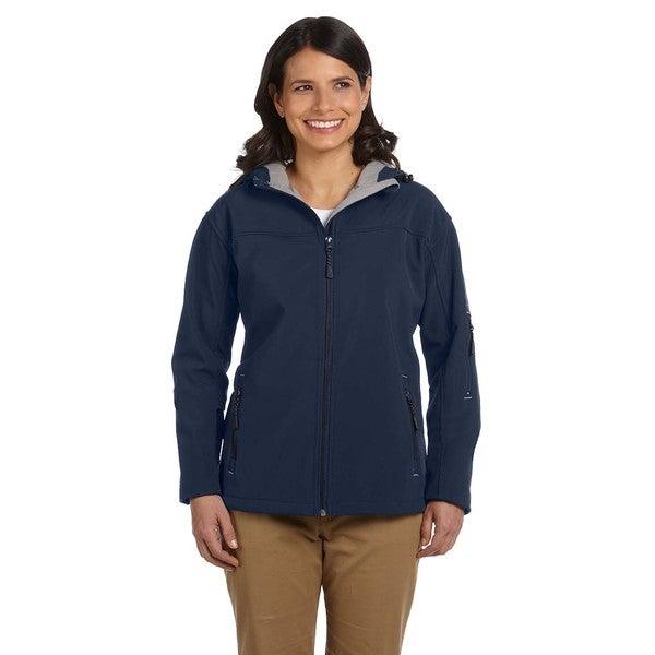 Hooded Women's Soft Shell Navy Jacket