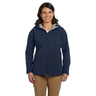 Hooded Women's Soft Shell Navy Jacket