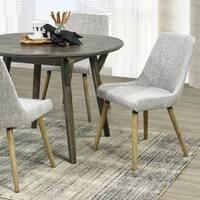 Strick & Bolton Ella Mid-century Grey Fabric Dining Chairs 2-piece Set