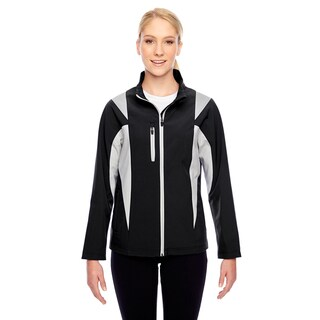 Icon Women's Colorblock Soft Shell Black/Sp Silver Jacket
