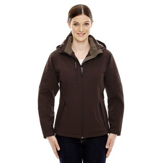 Glacier Insulated Three-Layer Fleece Bonded Women's Soft Shell With Detachable Hood Dark Chocolate 672 Jacket