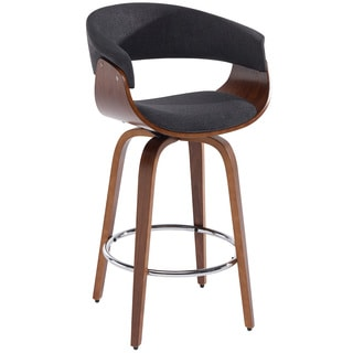 Holt Bentwood Grey Fabric 26-inch Counter Stool