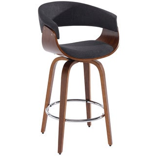 Holt Mid Century Grey Fabric 26-inch Counter Stool