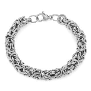 Gioelli Designs Stainless Steel Byzantine Bracelet