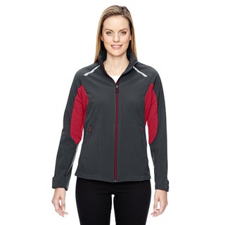 Excursion Women's Carbon/Olympic Red 467 Soft Shell With Laser Stitch Accents Jacket